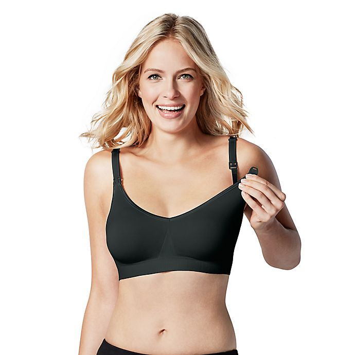 Alternate image 1 for Bravado Designs Medium Body Silk Seamless Nursing Bra in Black