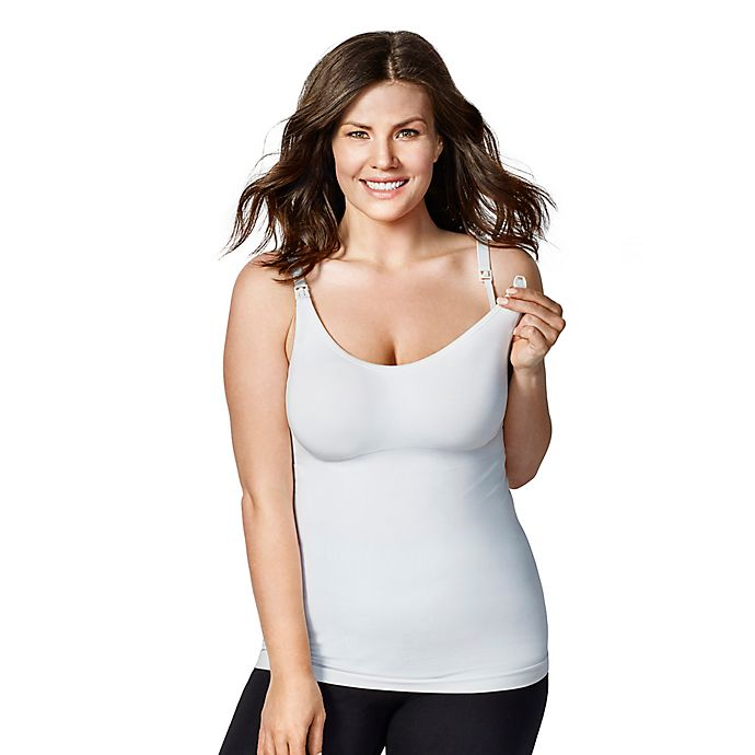b41b404e480c5d Bravado Designs Extra Large Body Silk Seamless Nursing Cami in White