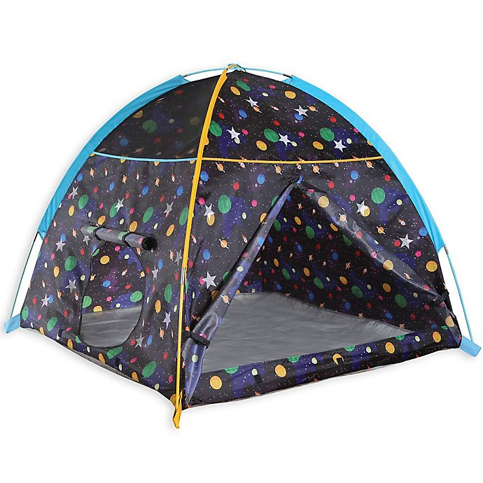 Alternate image 1 for Pacific Play Tents Glow-in-the-Dark Galaxy Dome Tent