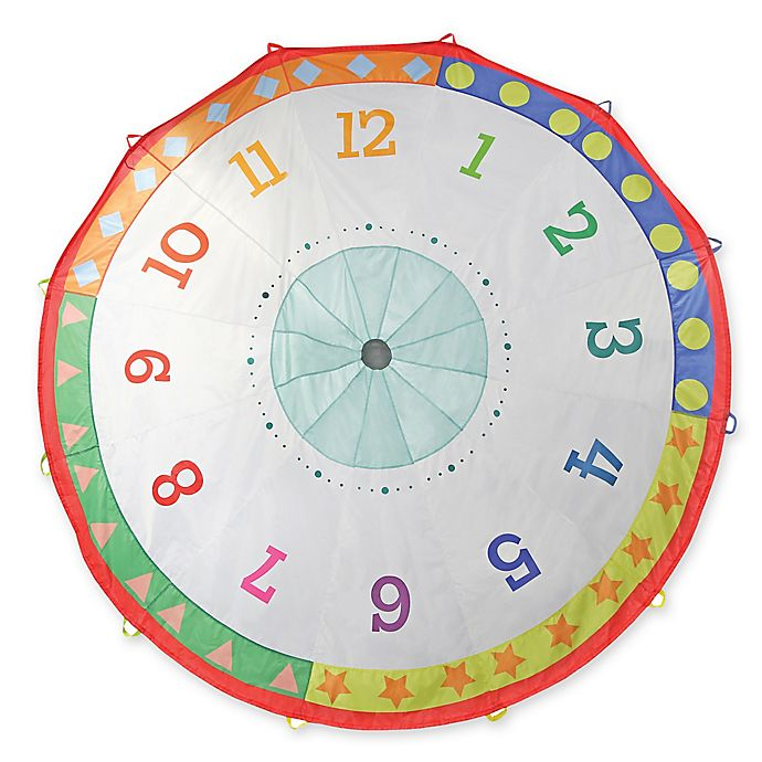 Alternate image 1 for Pacific Play Tents Tick Tock Clock 12-Foot Parachute