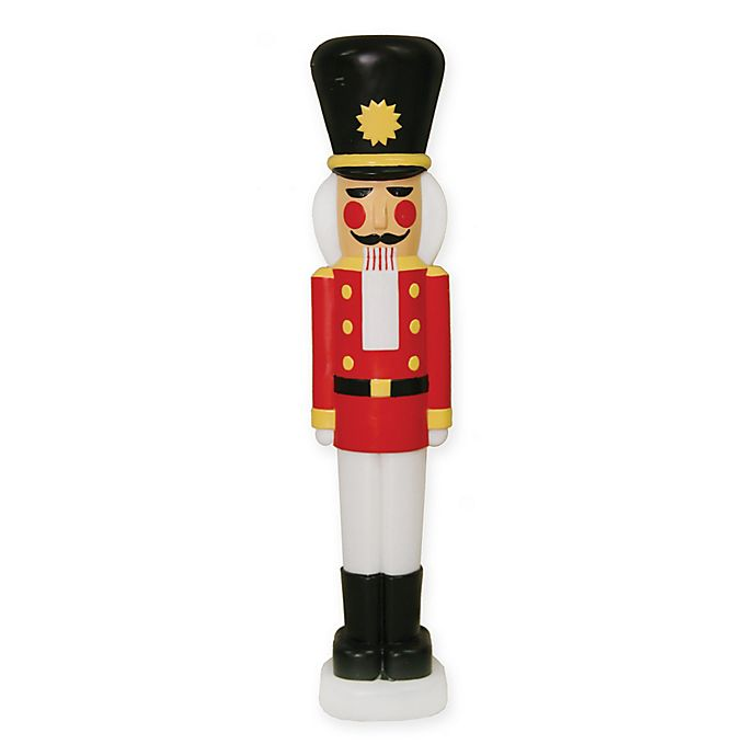 40 inch light up nutcracker outdoor christmas decoration