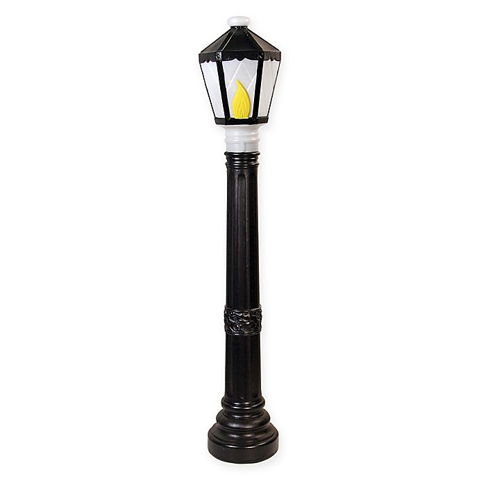 alternate image 1 for 39 inch light up black lamp post outdoor christmas decoration - Light Post Christmas Decorations