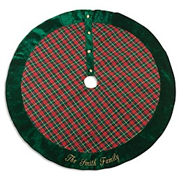 Plaid 46-Inch Christmas Tree Skirt