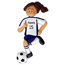 Female Soccer Player Ornament