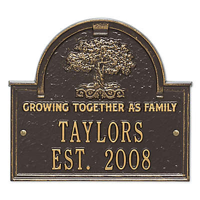 Whitehall Products Family Tree Anniversary/Wedding Plaque