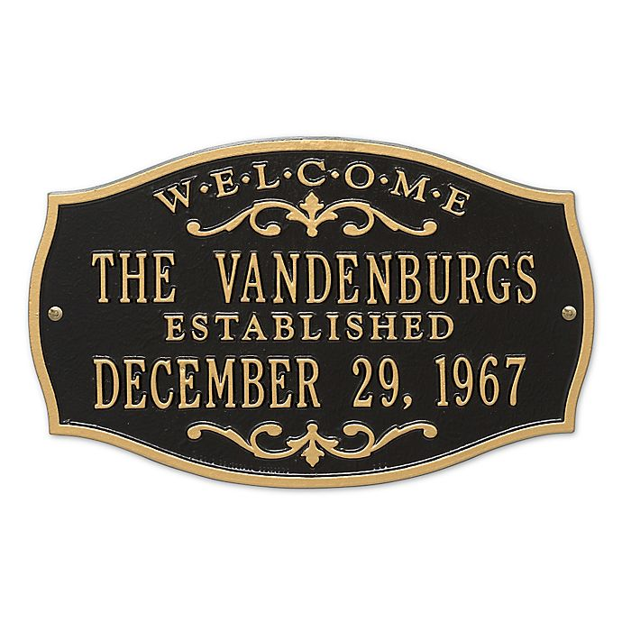 Alternate image 1 for Brookfield Welcome Anniversary Plaque in Black Gold