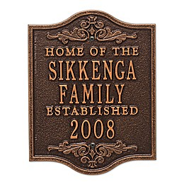 Buena Vista Anniversary Wedding Plaque