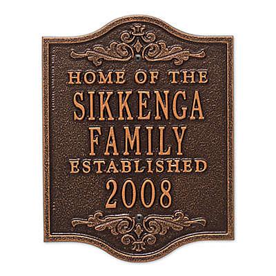 Buena Vista Anniversary Wedding Plaque