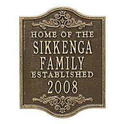 Buena Vista Anniversary Wedding Plaque in Antique Brass