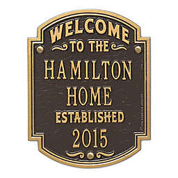 Whitehall Products Heritage Welcome/Anniversary Plaque Bronze/Gold