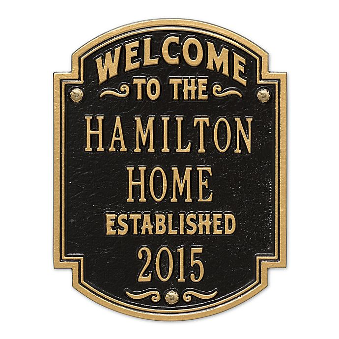 Alternate image 1 for Whitehall Products Heritage Welcome/Anniversary Plaque