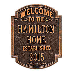 Whitehall Products Heritage Welcome/Anniversary Plaque in Antique Copper