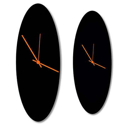 Metal Art Studio Blackout Ellipse Wall Clock