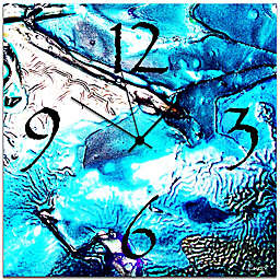 Metal Art Studio Cool Jazz Wall Clock in Blue