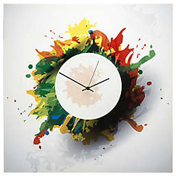 Metal Art Studio Splatter Wall Clock