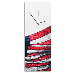 Metal Art Studio U.S. Flag Wall Clock