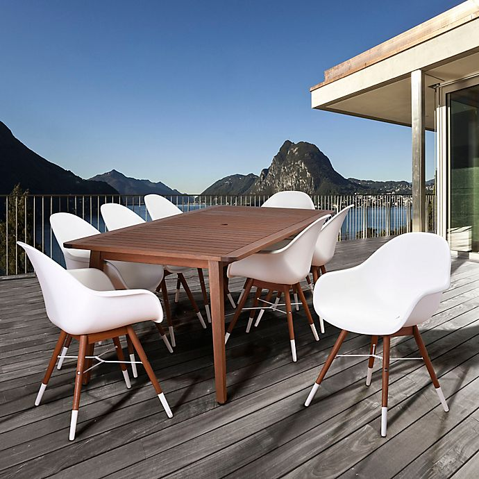 Alternate image 1 for Amazonia Chamonix 9-Piece Outdoor Dining Set