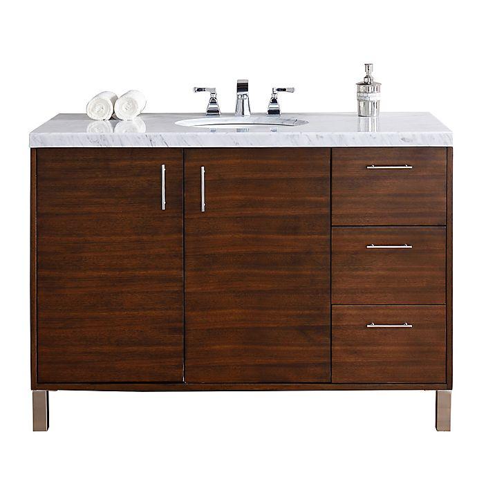 Alternate image 1 for James Martin Furniture Metropolitan 48-Inch Single Vanity in Walnut with no top