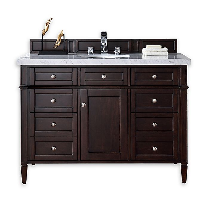 Alternate image 1 for Brittany 48-Inch Single Vanity Cabinet in Mahogany without Top
