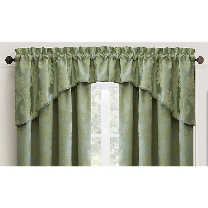 Sage Colored Curtains Kitchen: Buy Croscill® Adrianna Window Valance In Gold From Bed
