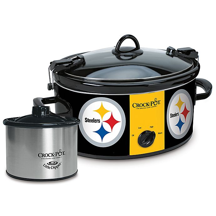 Alternate image 1 for NFL Pittsburgh Steelers Crock-Pot® Cook & Carry™ Slow Cooker with Little Dipper Warmer