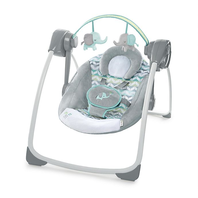 Alternate image 1 for Ingenuity™ Comfort 2 Go Portable Swing™ Jungle Journey™ in Grey