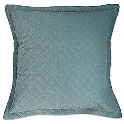 Austin Horn® Classics Abigail Velvet European Pillow Sham in Aqua Blue