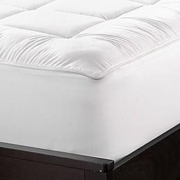 Sharper Image Zip & Wash Mattress Pad in White