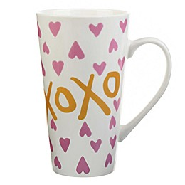 "Formations Hearts ""XOXO"" Latte Mug in Pink/White"