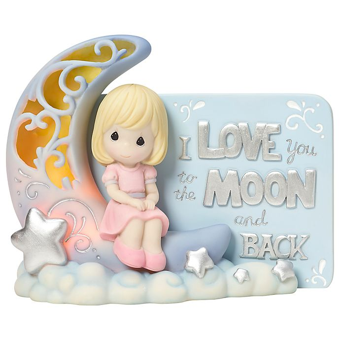Alternate image 1 for Precious Moments® Girl on Moon LED Figurine