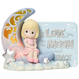 Precious Moments® Girl on Moon LED Figurine