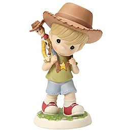 """Precious Moments® """"Boy Carrying 'Toy Story' Woody Doll"""" Figurine"""