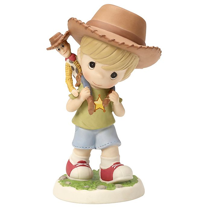 Precious Moments Boy Carrying Toy Story Woody Doll Figurine