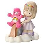 Precious Moments® Care Bear Girl and Cheer Bear Rainbow Figurine