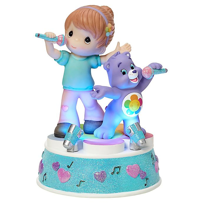 Alternate image 1 for Precious Moments® Care Bear Girl with Harmony Bear LED Musical Figurine