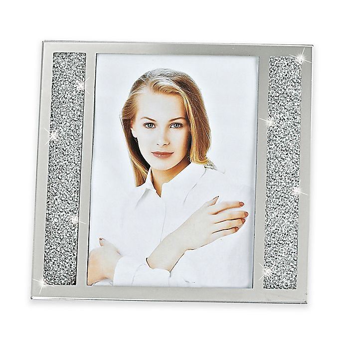 Alternate image 1 for Badash Lucerne Crystalized 5-Inch x 7-Inch Double-Sided Picture Frame