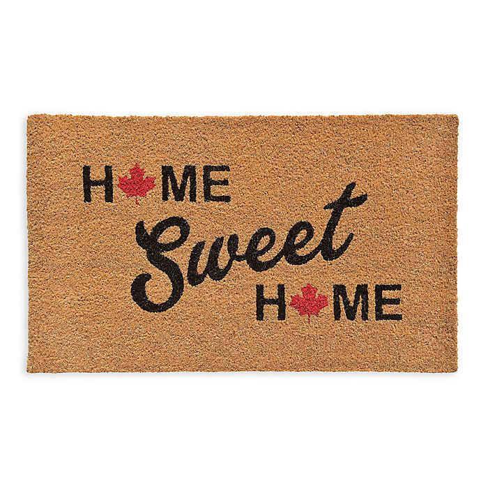 Alternate image 1 for 18-Inch x 30-Inch Home Sweet Canada Door Mat