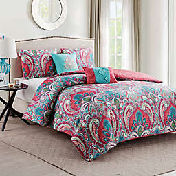 VCNY Casa Re'al Duvet Cover Set in Pink/Turquoise