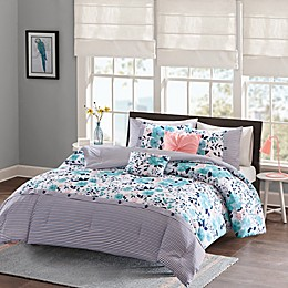 Intelligent Design Delle Reversible Twin/Twin XL Comforter Set in Blue