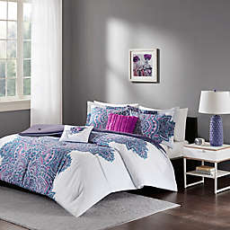 Intelligent Design Mila Comforter Set in Purple