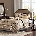 Madison Park Bellagio King Coverlet Set in Brown