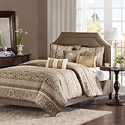 Madison Park Bellagio Coverlet Set in Brown