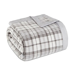 True North by Sleep Philosophy  Microfleece Blanket in Grey Plaid