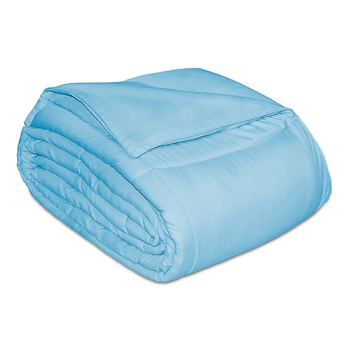 Alternate image 1 for Microfiber Down Alternative King Comforter in Light Blue