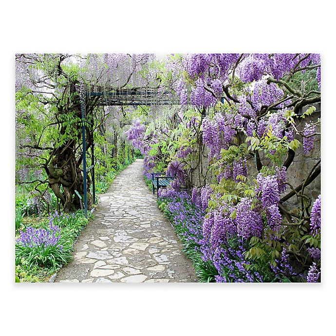 Alternate image 1 for Wisteria Path Outdoor All-Weather Canvas Wall Art