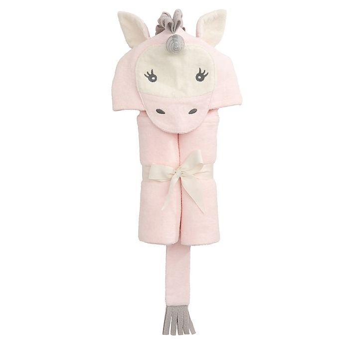 Alternate image 1 for Elegant Baby® Unicorn Bath Wrap Towel in Pink