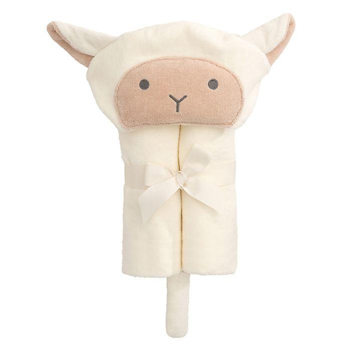 Alternate image 1 for Elegant Baby® Lambie Bath Wrap Towel in White