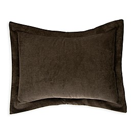 Glenna Jean North Country Velvet Large Pillow Sham in Charcoal