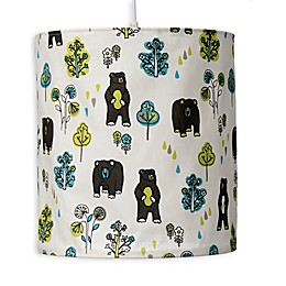 Glenna Jean North Country Honey Bear Print Hanging Drum Shade Kit