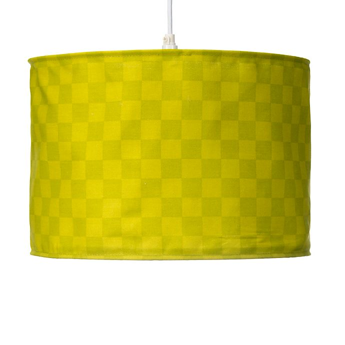 Alternate image 1 for Glenna Jean North Country Checkered Print Hanging Drum Shade Kit